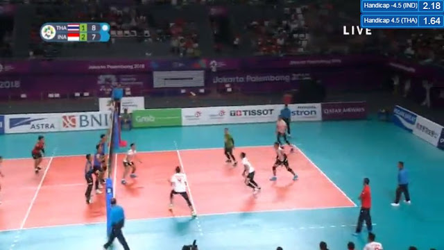 Live Streaming List: Indonesia vs Thailand ASIAD 2018 Volleyball (Men) Match