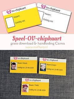 Speel-OV-chipkaart - leuk bij het thema trein