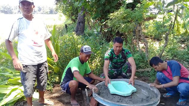 Tambah Lagi, Dua Warga Desa Bunton Kini Memiliki Jamban, Setelah dibantu TNI