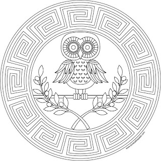 Athena coloring page- available in jpg and transparent png format