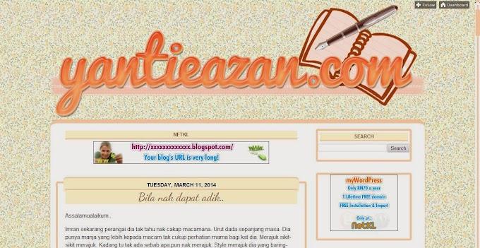 Tempahan Design Blog: yantieazan.com