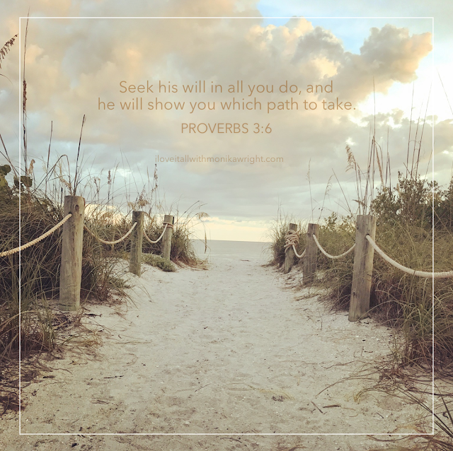 #Sanibel Island #Proverbs 3:6 #seek his will #sunday photos #beach #quote