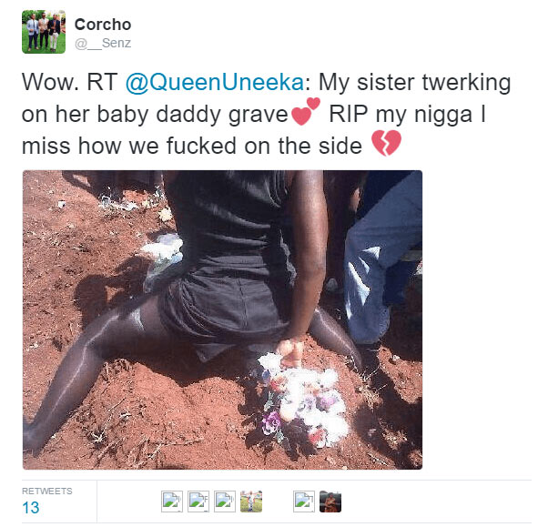 Girl twerks on her baby father's grave then his other girlfriend did this