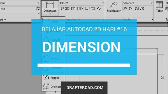 cara membuat Dimensi dalam Autocad