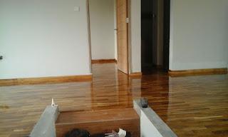 Proyek lantai kayu Bpk.Oktora Pondok Kacang