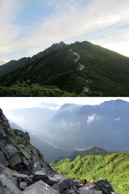 西穂高岳 稜線