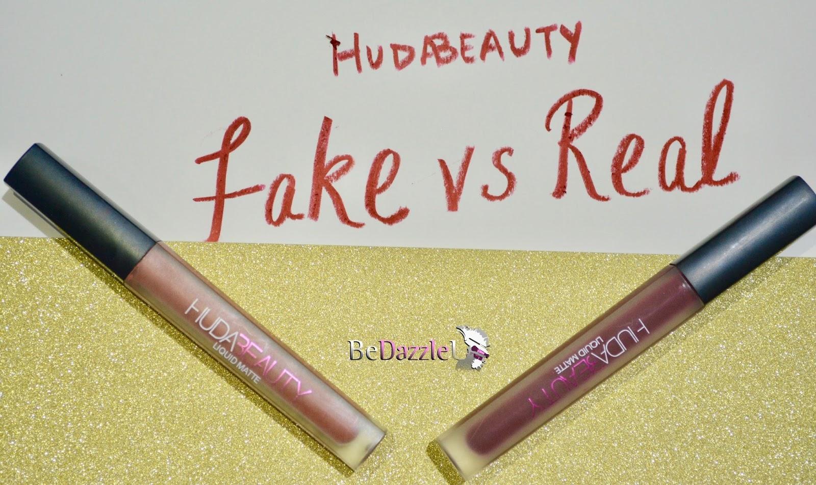 bda72d3fe5 FAKE V/S ORIGINAL Huda Beauty Liquid Matte Lipstick - BedazzleU