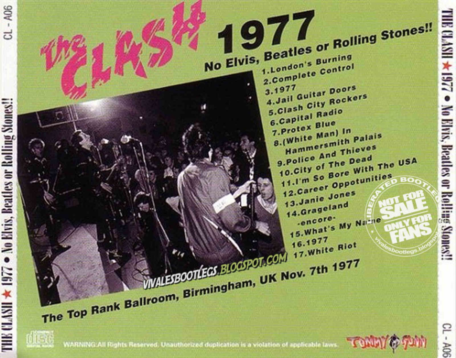 The Clash: 1977, No Elvis, Beatles Or Rolling Stones! The Top Rank
