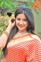 Sakshi Agarwal  in Orange Saree at Inauguration of Handloom And Handicraft exhibition ~  Exclusive 18.JPG