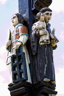 Krzyż w Nabszycach, św. Wawrzyniec, św. Antoni. Paweł bryliński