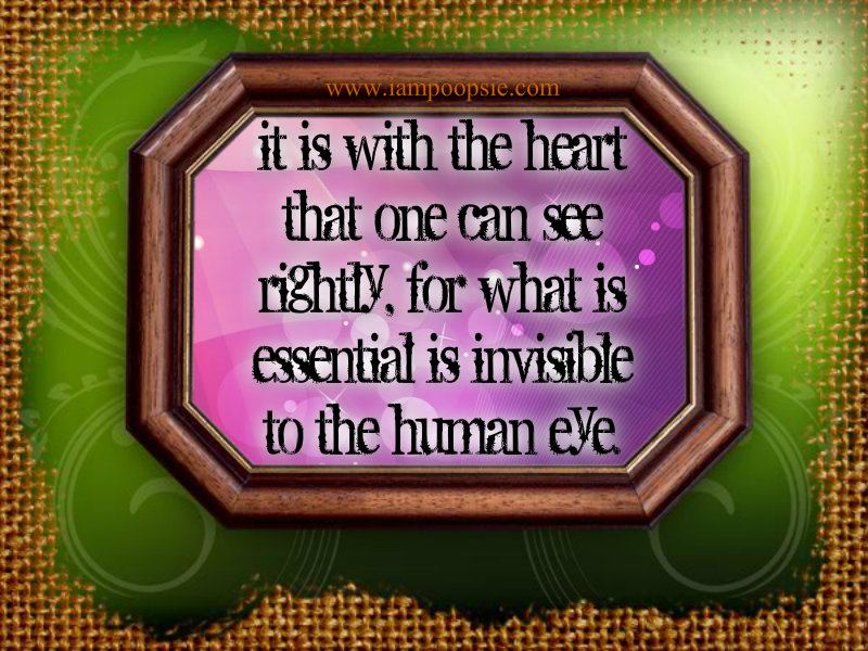That Which Is Essential Is Invisible To The Eyes: Poopsie: What Is Essential Is Invisible To The Human Eye