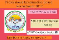 Professional Examination Board Recruitment 2017–1210 General Nursing Training & Pre. Nursing