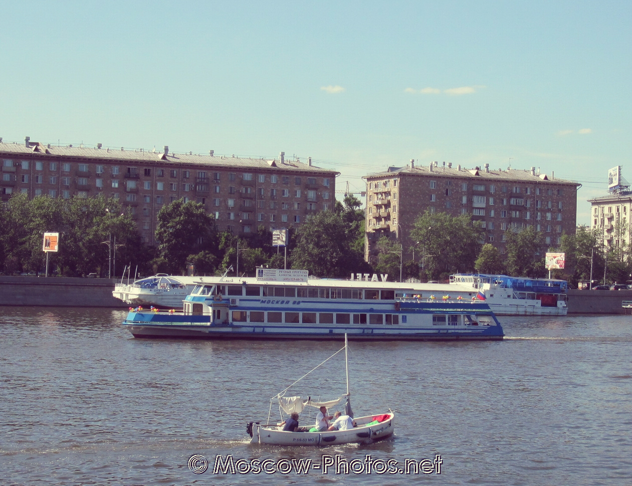 It's cool today on Moscow River
