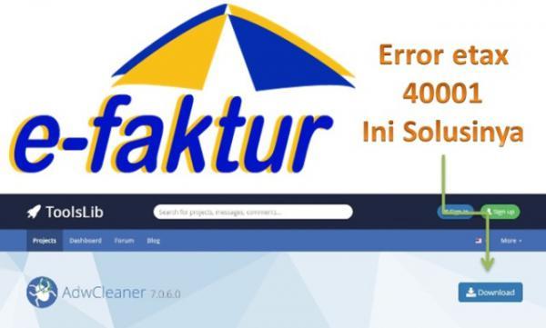 Solusi Error Etax-40001 Tidak Dapat Menghubungi E-Taxinvoice Server, Efaktur