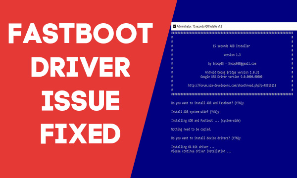 fastboot driver issues on mi a1