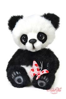Панда, panda, Коллекционные мишки тедди, авторские тедди, авторские игрушки, тедди, коллекция мишек тедди,друзья мишек тедди, NatalKa Creaions, artist teddy bears, ooak teddies, collectable teddies, stuffed toys, Künstlerteddys, teddies with charm, Teddybären, Teddy kaufen, teddy bears buy, Summer Loving Collection, Влюбленные в лето