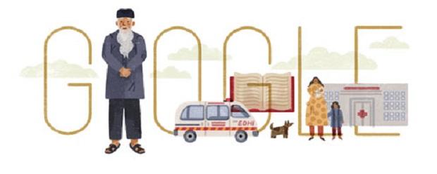 Tahukah Kamu ? Siapa Abdul Sattar Edhi ? Yang Ada Di Google Doodle hari Ini ?