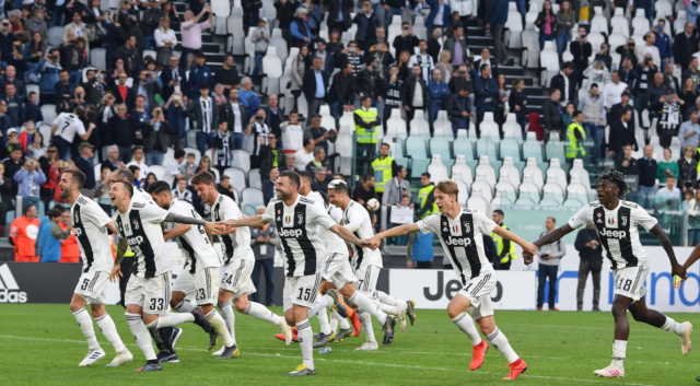 Juventus were crowned champions