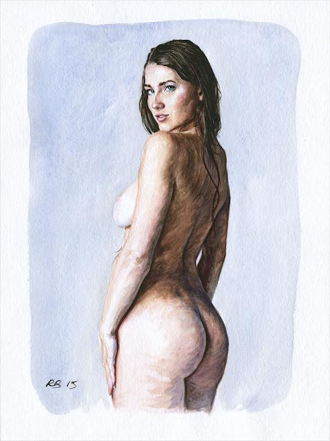 René Bui - Etude de nu à l'aquarelle #150160