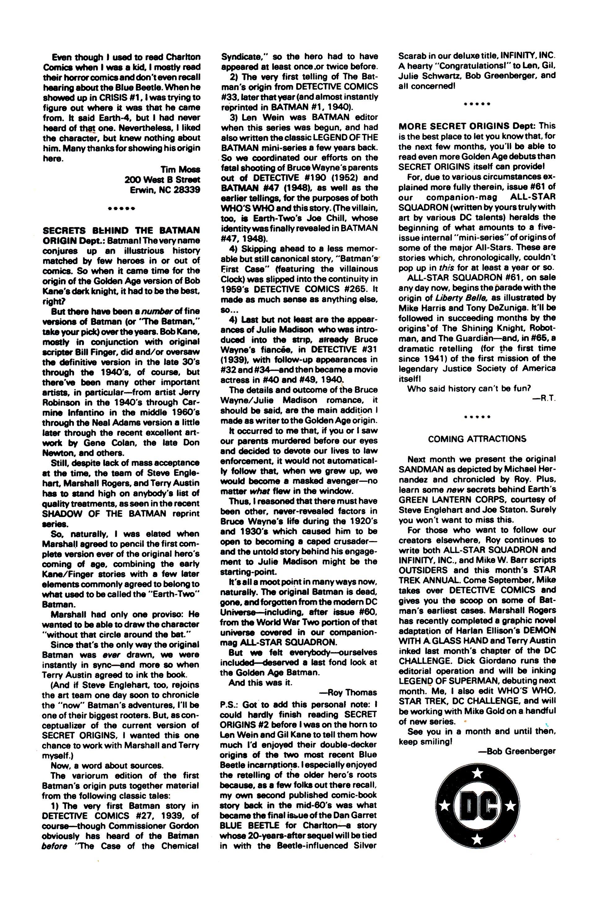 Read online Secret Origins (1986) comic -  Issue #6 - 50
