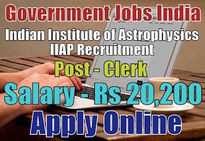 Indian Institute of Astrophysics IIAP Recruitment 2017