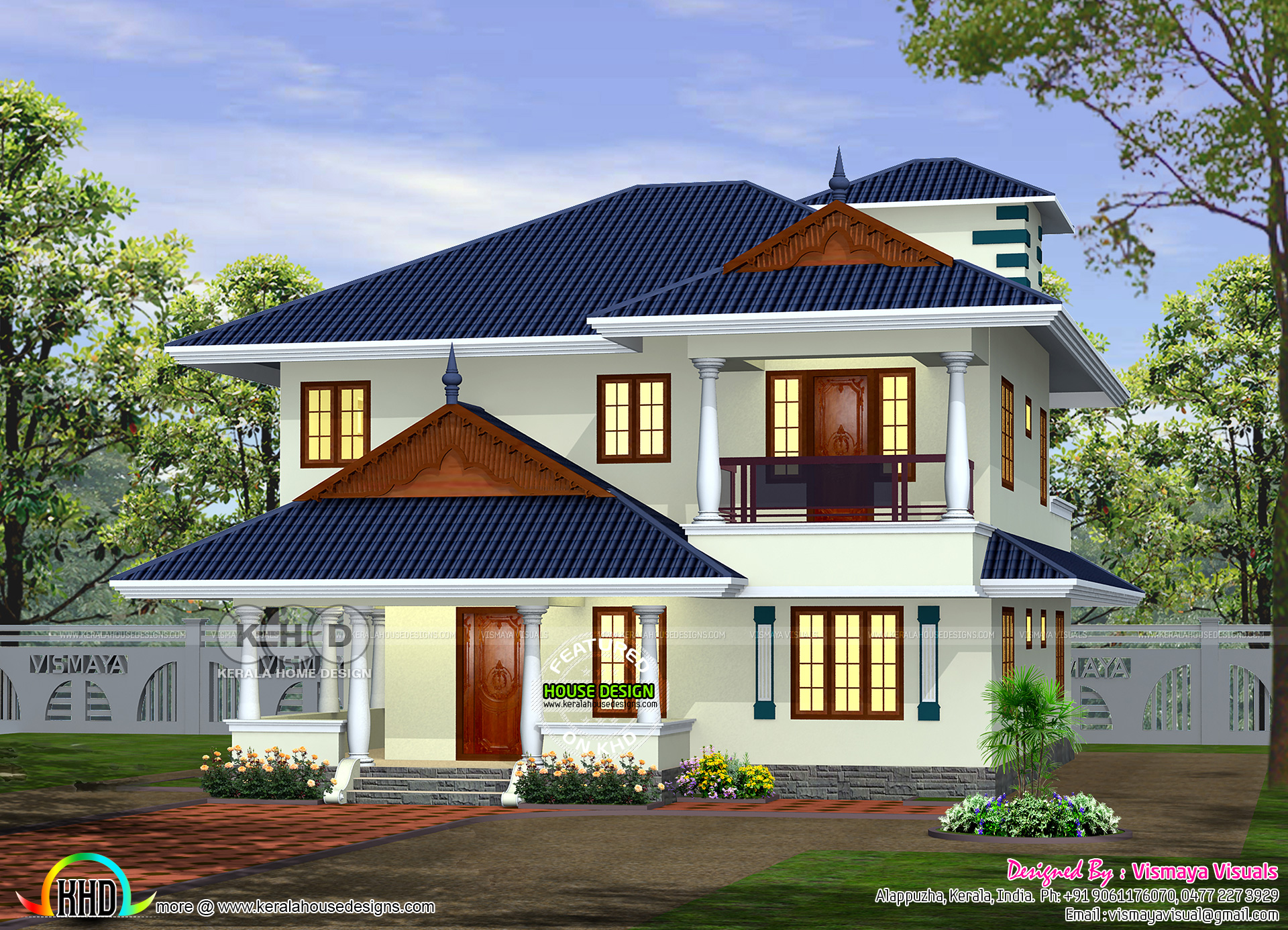 2260 Square Feet Typical Kerala Model Home Design