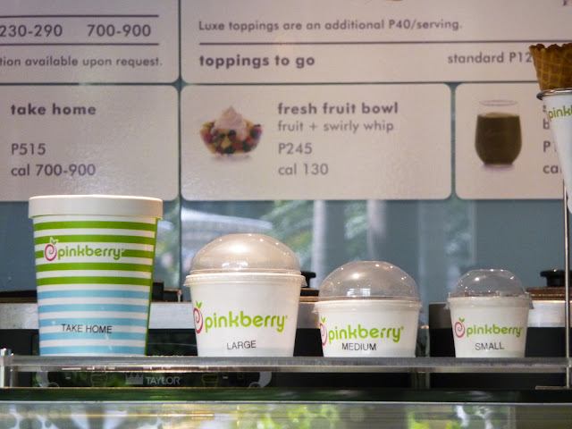 Pinkberry container sizes
