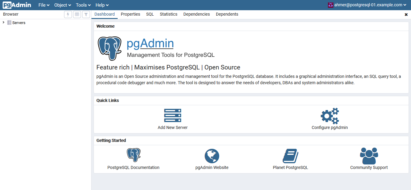 Install PostgreSQL and pgAdmin on CentOS 7