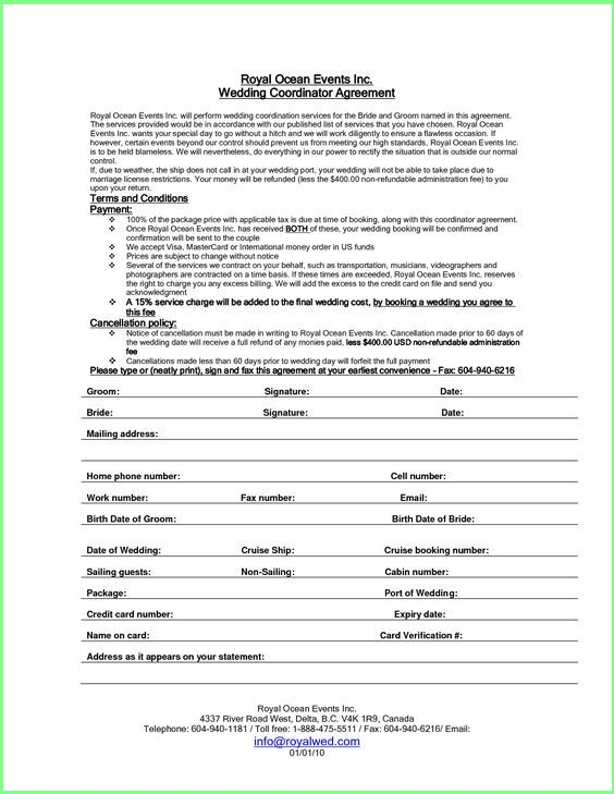 event planning contract templates free resume business