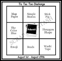 August Tic Tac Toe Stash Challenge