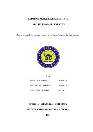 Contoh Laporan Prakerin Jurusan Tkj Di Telkom Kumpulan Contoh Laporan