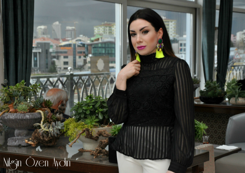 Çizgili Şifon Bluz-moda blogu-fashion blogger