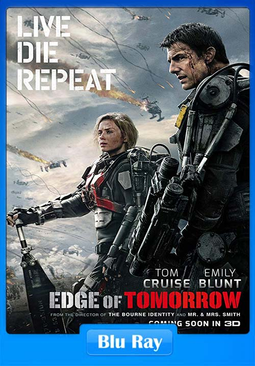 Edge of Tomorrow 2014 720p BluRay Dual Audio Hindi | 480p 300MB | 100MB HEVC