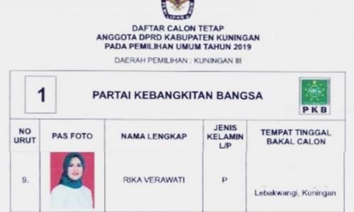Biodata Rika Verawati Si Calon Legislatif DPRD Cantik Kabupaten Kuningan
