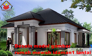 desain gambar model rumah 1 lantai