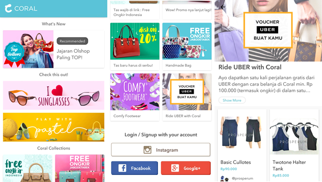 online-shop, aplikasi,  coral