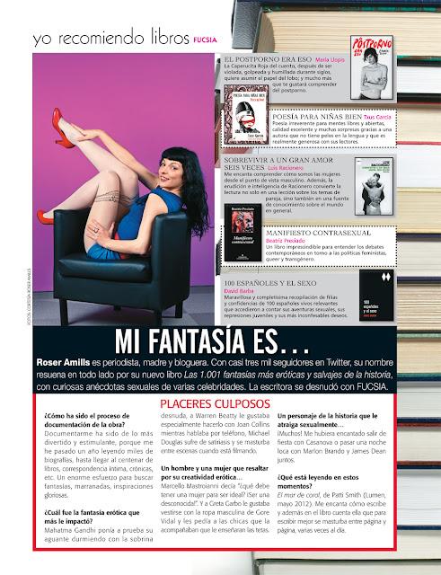 Roser Amills en la revista FUCSIA de Colombia