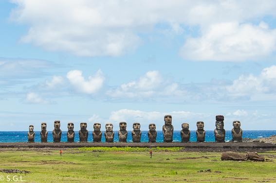 Ahu Tongariki y 15 Moais. Isla de Pascua