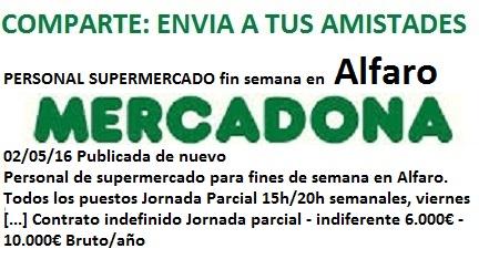 Lanzadera de Empleo Virtual Logroño, Oferta Mercadona Alfaro