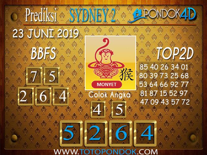 Prediksi Togel SYDNEY 2 PONDOK4D 23  JUNI 2019