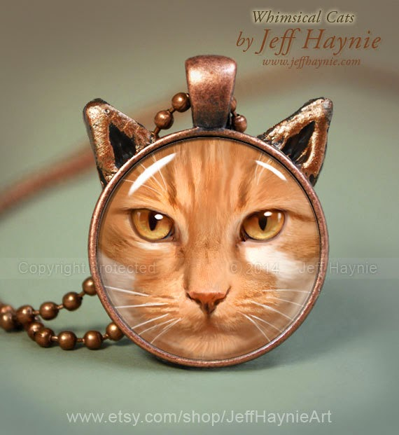 24-Orange-Tabby-Cat-Pendant-Jeff-Haynie-Cats in Drawings-Paintings-and-Jewelry-www-designstack-co
