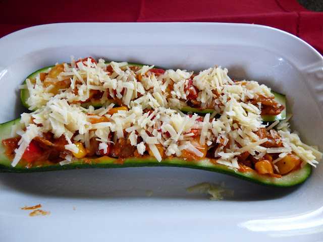 Mexican Inspired Stuffed Courgettes Zucchinni