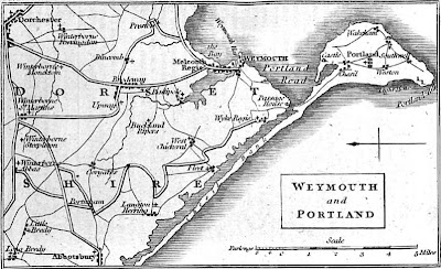 Map of Weymouth and Portland    from Weymouth and Melcombe Regis New Guide (1835)