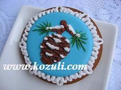 Новогодние пряники, новогоднее печенье / Рождественские пряники, рождественское печенье / Имбирные пряники, имбирное печенье. Пряник  Сосновая шишка