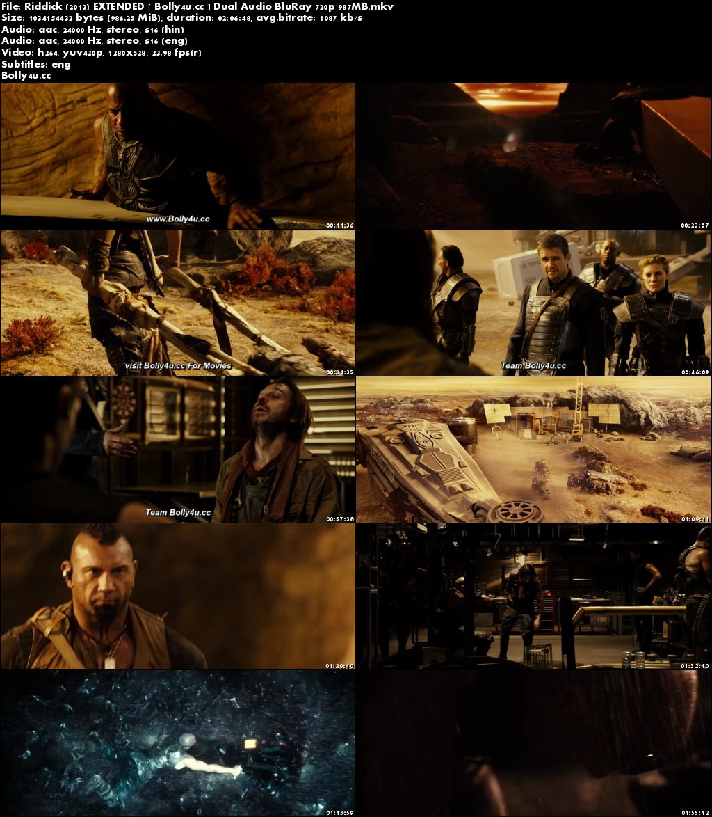 Riddick 2013 BluRay 400MB EXTENDED Hindi Dual Audio 480p Download