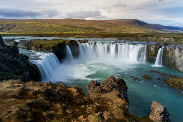 Godafoss waterfall in September - one of the best times to visit Iceland
