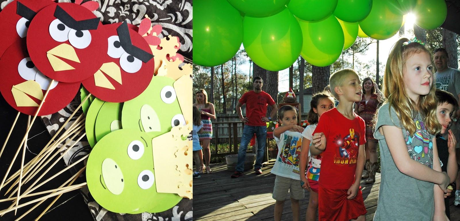 Creative Homespun Angry Birds Party Gluestick