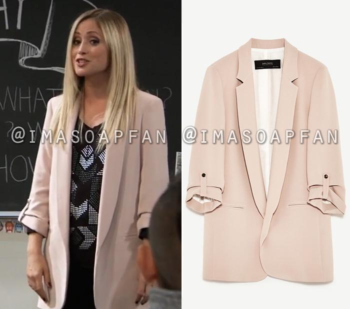Lulu Spencer Falconeri s Long Blush Pink Blazer - General Hospital ... 8b1c988695c