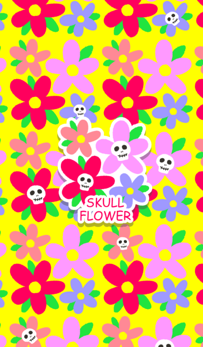Mexico image flower and skull