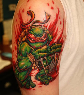 Tatuaje de Rafael (Las Tortugas Ninja)